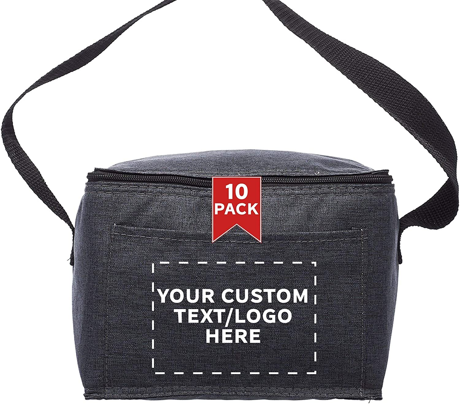 Custom Insulated Cooler Omaha Mall Lunch Max 65% OFF Bag - 10 Logo Personalized Pack