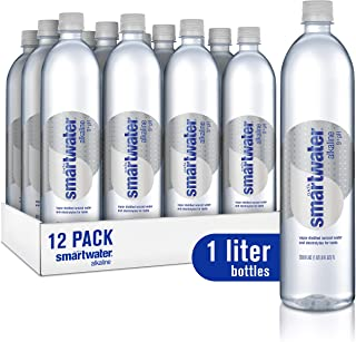 smartwater vapor distilled premium water bottles (Alkaline 1 L(12 Count))