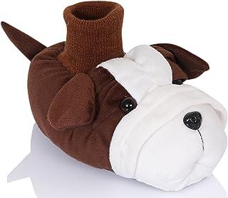CHILDRENS KIDS EAZE WARM COSY NOVELTY DOG SLIPPERS X2073