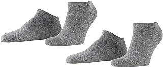 ESPRIT Men's Basic Uni 2-Pack Trainer Socks Cotton Black White More Colours Thin Light Colourful Ankle Socks Plain Pattern...