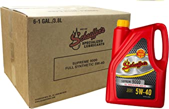 Schaeffer Manufacturing Co. 9000-006 Supreme Full Synthetic Diesel Engine Oil, 5W-40, 1 gal (Pack of 6)