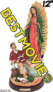 collection 12 Inch Statue Our Lady of Guadalupe W/San St Juan Diego Saint Estatua Virgen