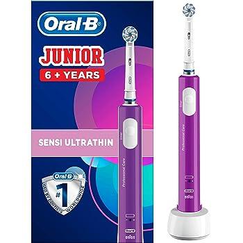 Oral-B Spazzolino Elettrico Ricaricabile Junior per Bambini da 6 Anni, Viola