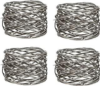 Klikel Mesh Napkin Ring Stainless Steel Set Of 4