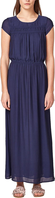 Esprit Women's Terracotta Maxi Crepe Dress