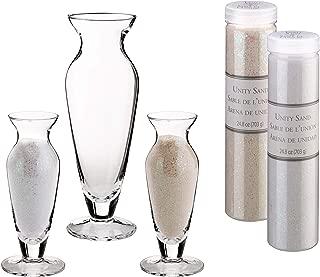 Lillian Rose US103S WI Wedding Unity Sand Ceremony Vase Set, 2.5x2.5x8.25, Clear