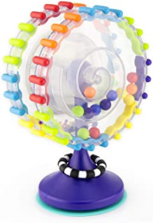 Sassy Whimsical Wheel Suction Cup STEM Learning Toy, Age 6+ Months