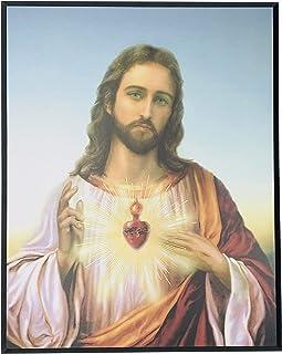 JWG Industries Sacred Heart of Jesus Wall Art Modern Picture