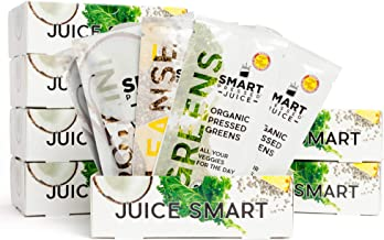7-Day Organic Juice Cleanse Weight Loss | Smart Pressed Juice | Detox Shake Health Program | Cold-Pressed Green Juice | Beets Chia Fiber Protein Celery | Made in USA