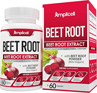 Beet Root Powder Capsules - 1300mg Pure Beetroot Powder Extract - Superfood Powder Wellness Formula - Nitric Oxide Booster...