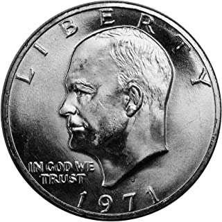 1971 S Silver Eisenhower Ike Dollar $1 Brilliant Uncirculated