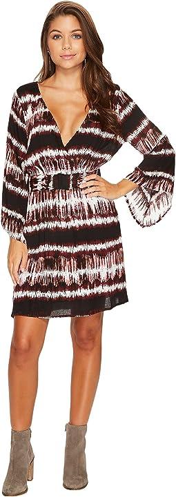 Laina Printed Rayon Crepe Kimono Dress