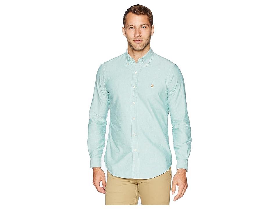 Polo Ralph Lauren Oxford Button Down Sport Shirt (Hunter Green/White) Men