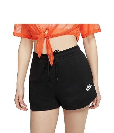 Nike NSW Essential Shorts French Terry (Black/White) Women