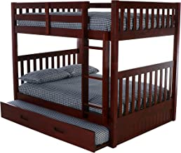 Discovery World Furniture Full Over Full Bunk Bed with Twin Trundle, Merlot