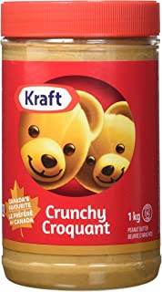 KRAFT Peanut Butter - Crunchy 1KG - Imported from Canada