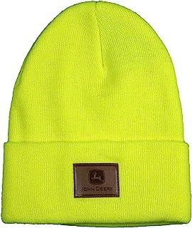 قبعة من الجلد من جون دير - عالية الوضوح باللون الأصفر