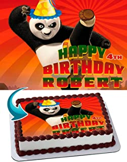 Kung Fu Panda Edible Image Cake Topper Party Personalized 1/4 Sheet