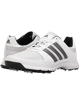 아디다스 남성 골프화 adidas Golf Tech Response,Ftwr White/Dark Silver Metallic/Core Black