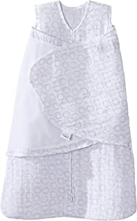 Halo 100% Cotton Muslin Sleepsack Swaddle Wearable Blanket, Circles Grey, Newborn