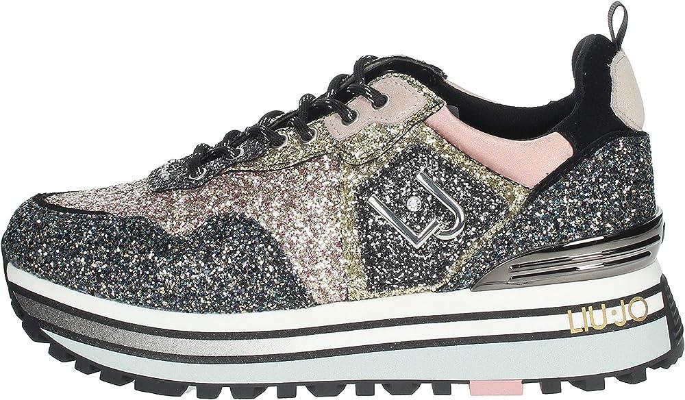 Liu jo jeans ljwmx, scarpe sneakers da ginnastica donna in camoscio e tessuto BF0069TX085