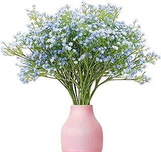 Yunuo 12PCS Artificial Baby Breath/Gypsophila Silk Flower Wedding Bridal Bouquet Home Party Decor Gift (Light Blue)