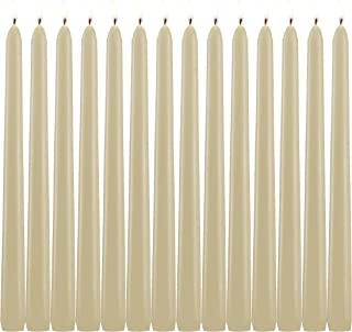 14 Taper Candles Ivory 10 Inch Tall 3/4 Inch Thick Burn 7.5 Hours (Color Is Core and Overdip )