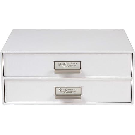 Bigso Box of Sweden 9431145544 Module de Rangement à 2 Tiroirs Panneau de Fibre Blanc 25,5 x 33 x 14,5 cm