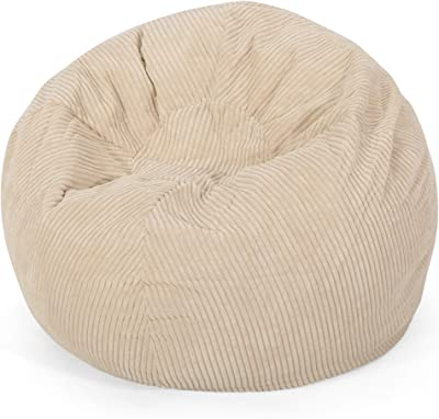 Christopher Knight Home Samantha 3 Foot Beanbag, Ivory