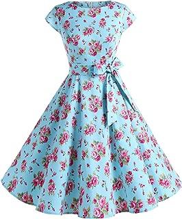 Dressystar Women Vintage 1950s Retro Rockabilly Prom Dresses Cap-Sleeve