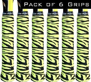 Alien Pros Tennis Racket Grip Tape (6 Grips) – Precut and Dry Feel Tennis Grip – Designer Tennis Overgrip Grip Tape Tennis Racket – Wrap Your Racquet for High Performance (6 Grips)