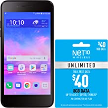 Net10 LG Rebel 4 4G LTE Prepaid Smartphone with $40 Airtime