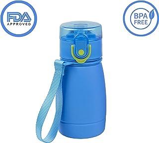 acero inoxidable aislado al vac/ío gimnasio yoga doble pared termo para ni/ños con cepillo y cubierta para ciclismo TiooDre Botella de agua 350 ml sin BPA para deportes fr/íos y calientes