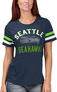 G-III 4her by Carl Banks Seattle Seahawks Women's Extra Point Bling T-Shirt - Navy
