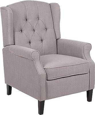 Amazon.com: Upholstery - Silla de sofá con patas de madera ...