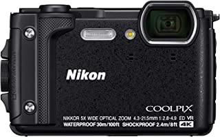 Nikon CoolPix W300 Camera, 4K UHD, Waterproof to 100 ft, Freezeproof to 14°, Shockproof, Dustproof, Digital Camera (Black)
