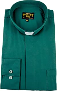 green clerical shirt