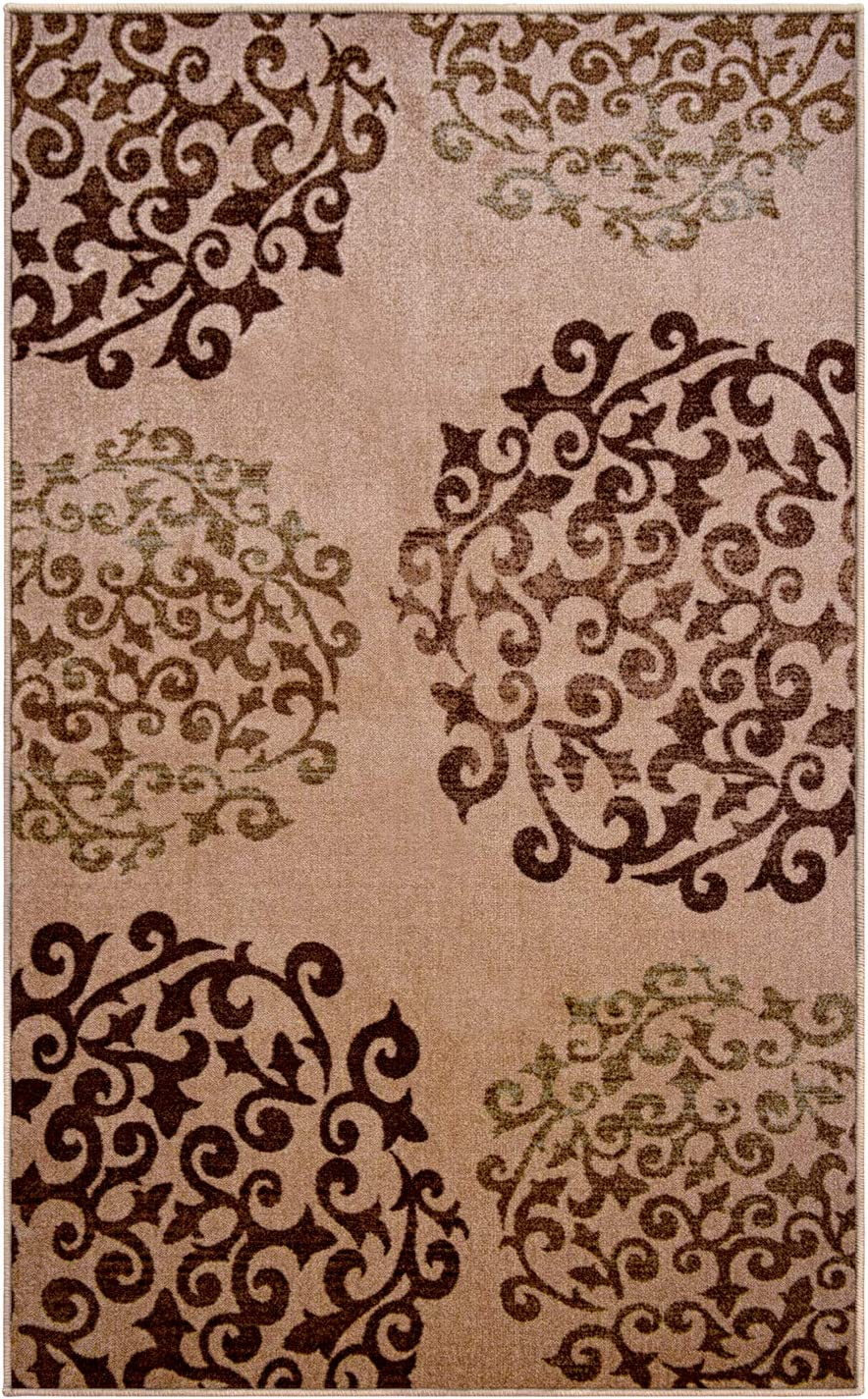 SUPERIOR Coledale Floral Spring new work one after another Medallion Max 54% OFF Non-Slip with Area Rug Indoor
