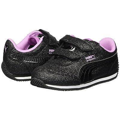 Puma Kids Whirlwind Glitz V (Toddler) (Puma Black/Orchid) Girls Shoes