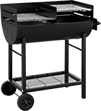 Tepro Detroit Parrilla Barril Carbón Vegetal Negro - Barbacoa (Parrilla, Carbón Vegetal, Barril, Parrilla, Negro, Rectangular)