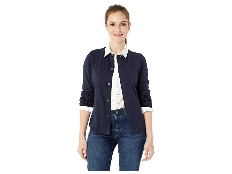 Tommy Hilfiger Adaptive Cardigan Sweater with Magnetic Buttons (Masters Navy) Women