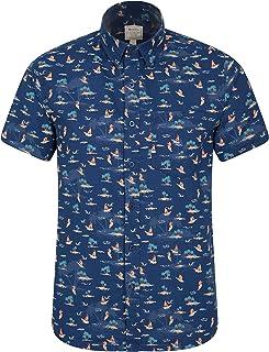 Mountain Warehouse Tropical Printed Mens Short Sleeved Shirt - 100% Cotton Shirt, Breathable Summer Shirt, Machine Washabl...