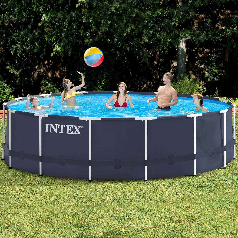 Premium Pool 457x122 Cm Schwimmbad Metallrahmen Amazon De Garten