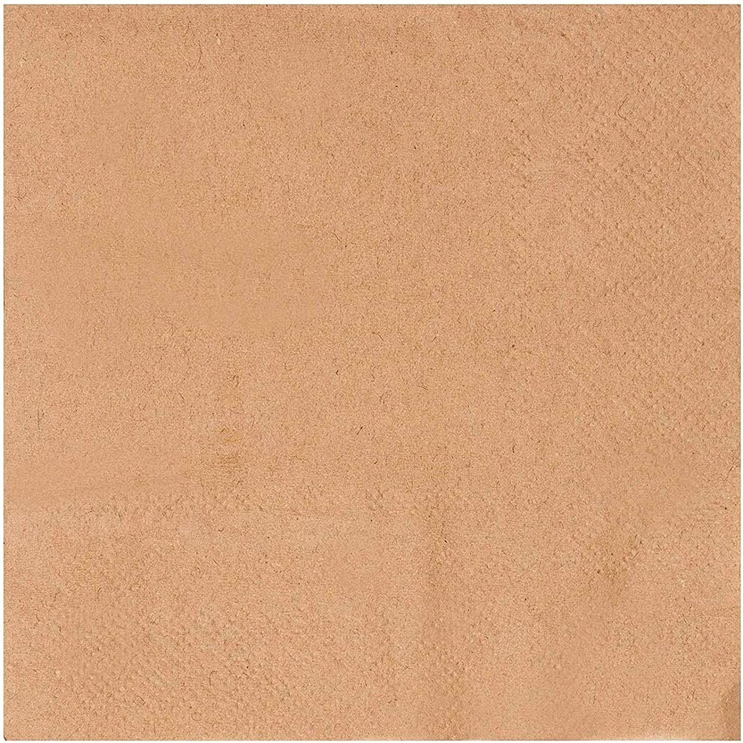 Kraft Party Supplies Paper Napkins Limited price Brown 5 In x 500 cheap Pack