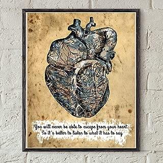 Pulling Paulo Coelho Quote Art The Alchemist Book Heart Printable Anatomy Home Decor Print Inspirational Quote Decor