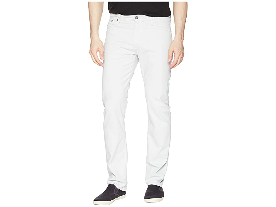 Image of AG Adriano Goldschmied Everett Slim Straight Leg Twill Pants (Pale Cinder) Men's Casual Pants