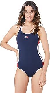Tommy Hilfiger Women's Flag Patch Racerback Swimsuit