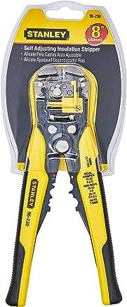 """Stanley 96-230, Alicate Automático, Ajustável, Desencapador e Crimpador de Fios, Amarelo/Preto, 203mm - 8"""""""