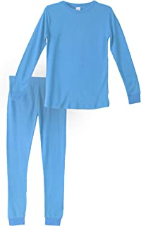 Habit Rags Best Organic Bamboo Cotton Long John Thermal Pajama Set for Big Boys, Girls, Toddlers and Kids Size 2 to 16