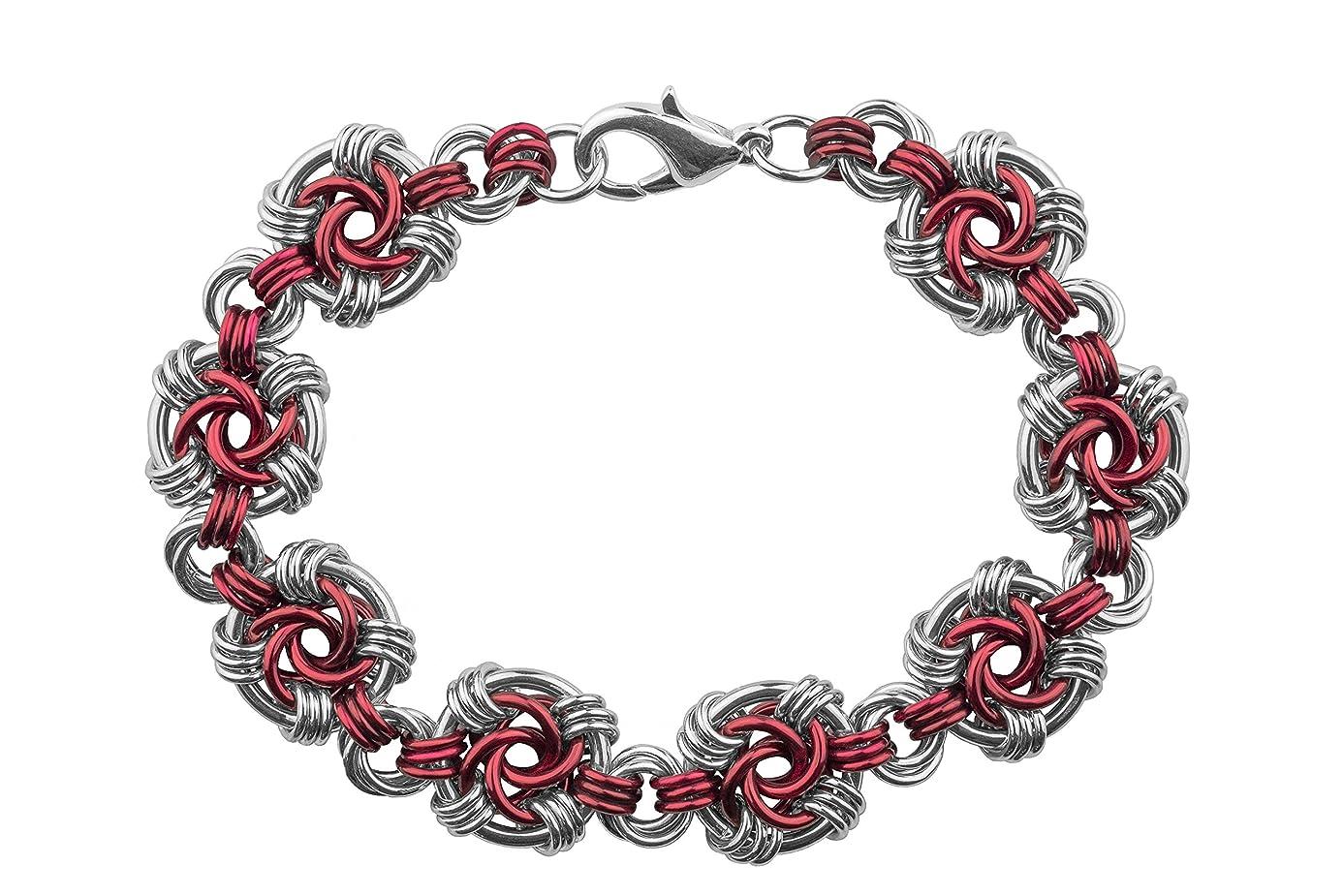 Weave Got Maille Marsala Swirls Chain Maille Bracelet Kit qve5634472
